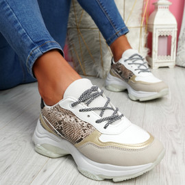 Eveny Serpentine Chunky Sneakers