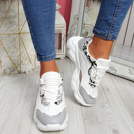 Nurro Grey Chunky Trainers