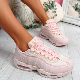 Nokka Pink Chunky Trainers