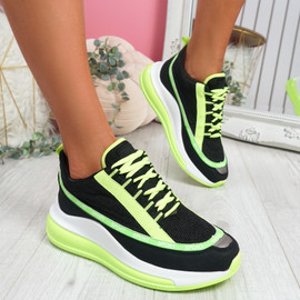 Jimma Green Lace Up Trainers