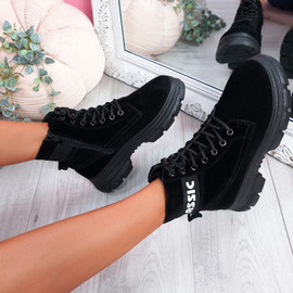Adya Black Ankle Boots