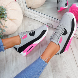 Monka Gray Rose Trainers