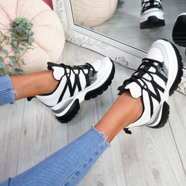 Sippy White Chunky Trainers