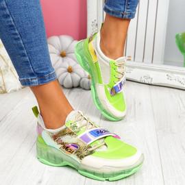 Huma Green Chunky Running Trainers
