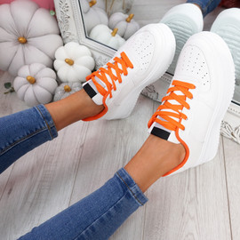 Lazza Orange Flatform Trainers
