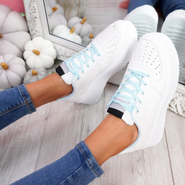 Lazza Blue Flatform Trainers