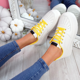 Lazza Yellow Flatform Trainers