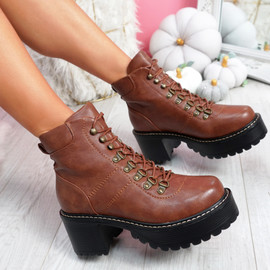 Lozza Brown Tan Ankle Boots