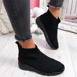 Ewwa All Black Sock Sneakers