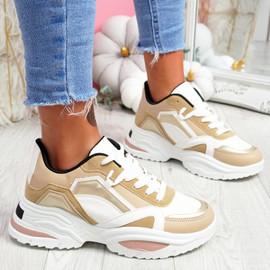 Nemy Camel Chunky Sneakers