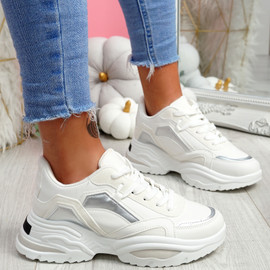 Nemy White Chunky Sneakers
