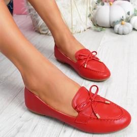 Pinga Red Flat Ballerinas