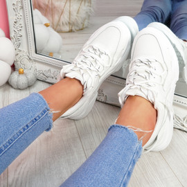 Mitry White Chunky Trainers