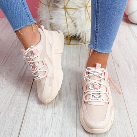 Mitry Pink Chunky Trainers