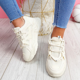 Norre Beige Chunky Sneakers