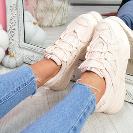 Norre Pink Chunky Sneakers