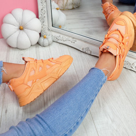 Norre Orange Chunky Sneakers