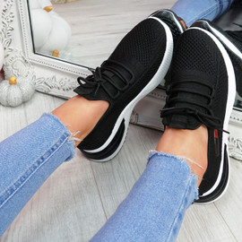 Bimma Black Knit Trainers