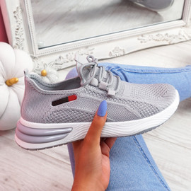 Bimma Grey Knit Trainers
