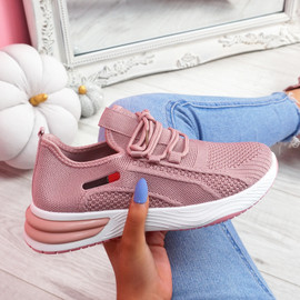Bimma Pink Knit Trainers