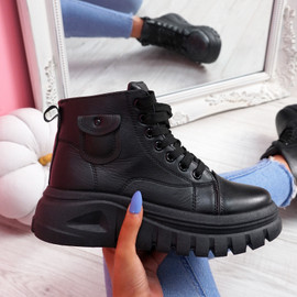 Nanna Black High Top Trainers