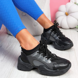 Uny Black Chunky Sneakers