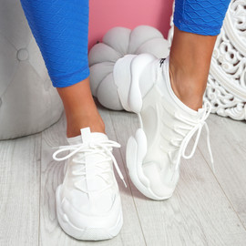 Uny White Chunky Sneakers