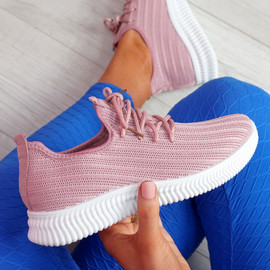 Mizzy Pink Knit Sneakers