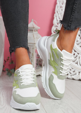 Nocy Green Chunky Trainers
