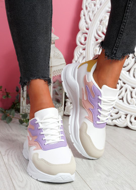Nocy Purple Chunky Trainers