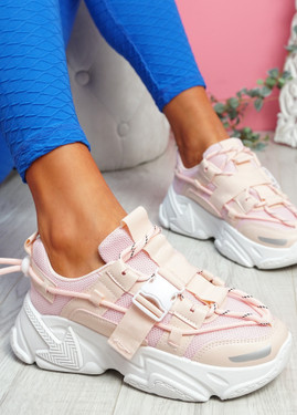 Zedy Pink Chunky Trainers