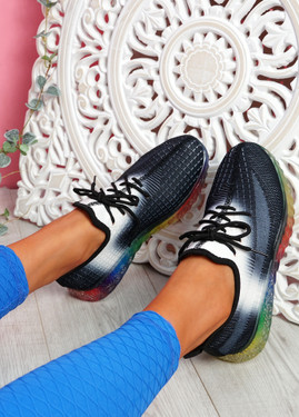 Rufo Black Rainbow Sneakers