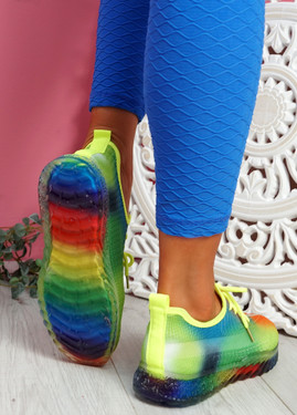 Rufo Green Rainbow Sneakers