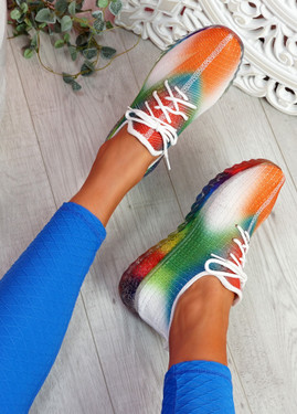 Rufo White Rainbow Sneakers