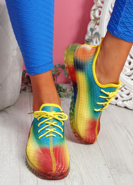 Rufo Yellow Rainbow Sneakers