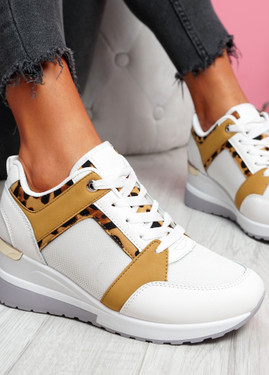 Milla Camel Wedge Platform Trainers