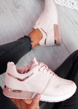 Huga Pink Glitter Trainers