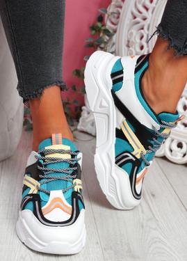 Lota Blue Chunky Sneakers