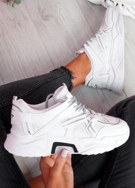 Lota White Chunky Sneakers