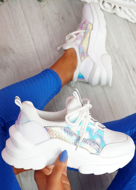 Londe White Chunky Snake Trainers