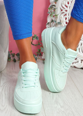 Merty Light Green Flatform Trainers
