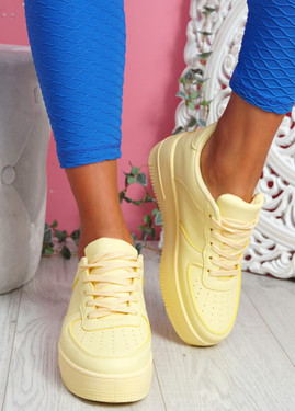 Merty Yellow Flatform Trainers