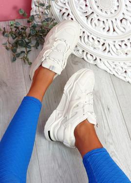 Dijy Beige Chunky Sneakers