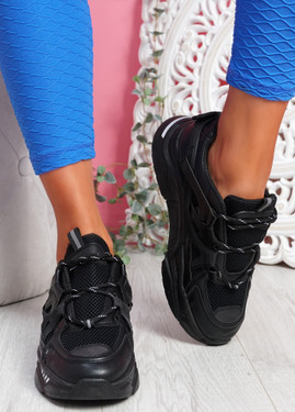Dijy Black Chunky Sneakers