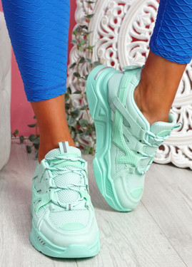 Dijy Green Chunky Sneakers