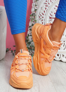 Dijy Orange Chunky Sneakers