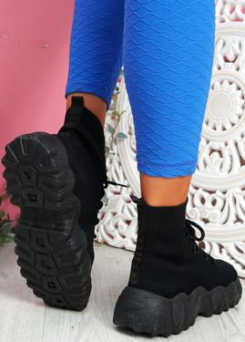 Cerra Black Sock Sneakers