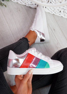 Yza Silver Multicolor Trainers