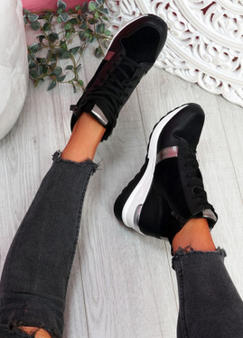 Torra Black Wedge Trainers
