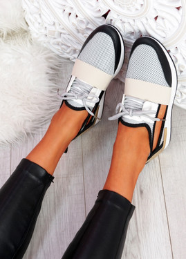 Jimo Beige Cut Out Trainers